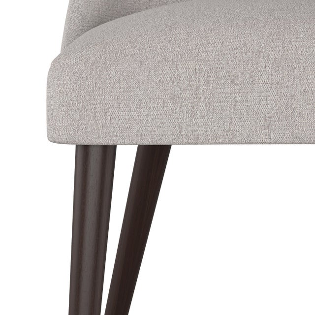 Spritely Home Rounded Back Dining Chair in Aiden Platinum For Sale - Image 4 of 7