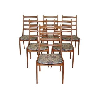Set of 6 Danish Modern Chairs by Kai Kristiansen For Sale