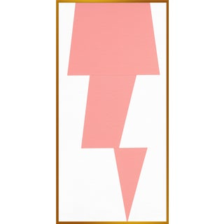 "XL ""Pink Jagged"" Print by Jason Trotter, 34"" X 67"""