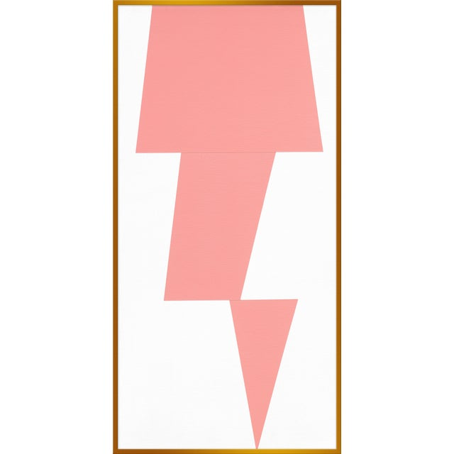 "XL ""Pink Jagged"" Print by Jason Trotter, 34"" X 67"" - Image 1 of 2"
