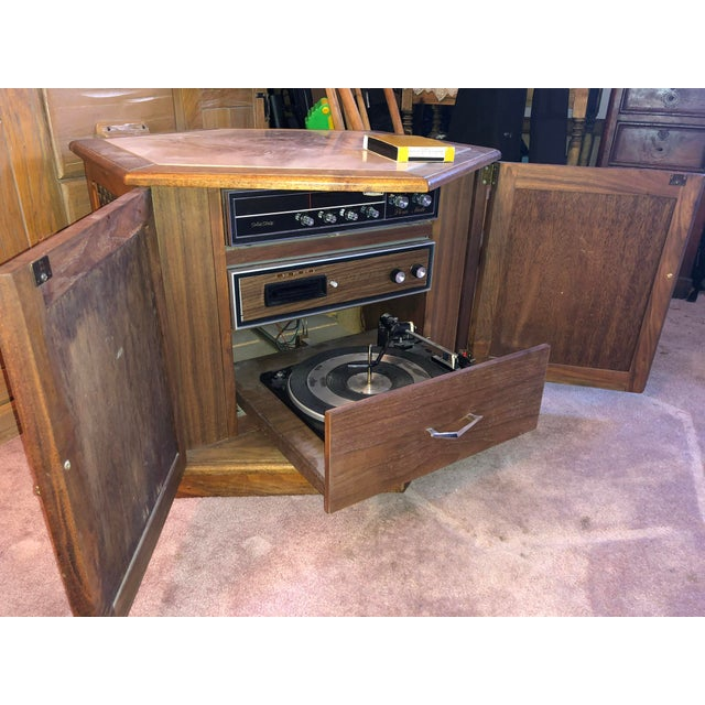 American 1970's Octagon Stereo Console For Sale - Image 3 of 13
