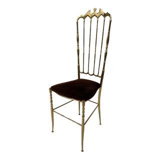 Brass Chiavari Vanity Side Chair For Sale