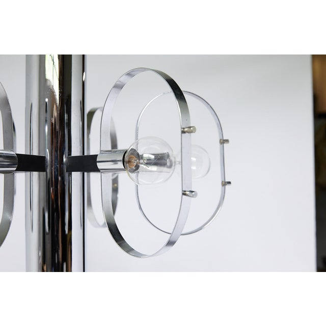 Mid-Century Modern 7-Light Chrome Fixture by Forecast Lighting For Sale - Image 9 of 13