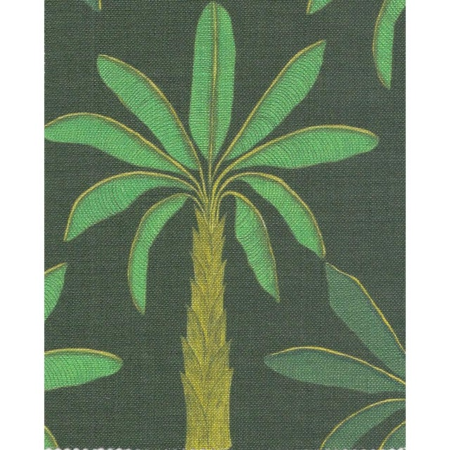 Tropical Fabric in Mallard Green, Sample For Sale - Image 6 of 6