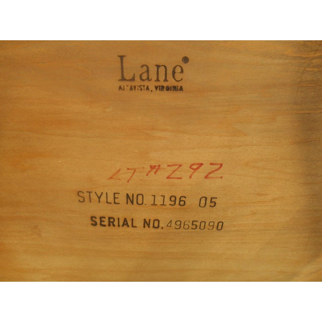 Lane Mid-Century Parquet Side Table For Sale - Image 6 of 6