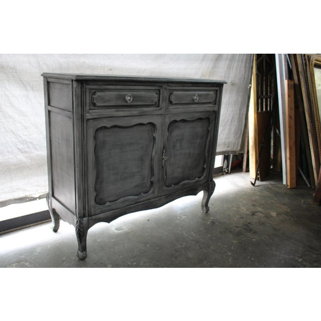 French 20th Century French Gray Oak Cabinet For Sale - Image 3 of 9