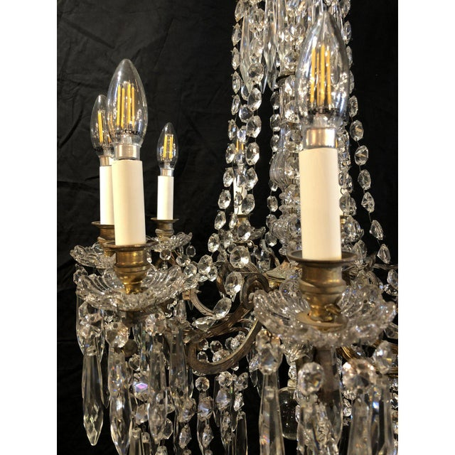 French French Napoleon III Signed Portieux Crystal Chandelier For Sale - Image 3 of 9