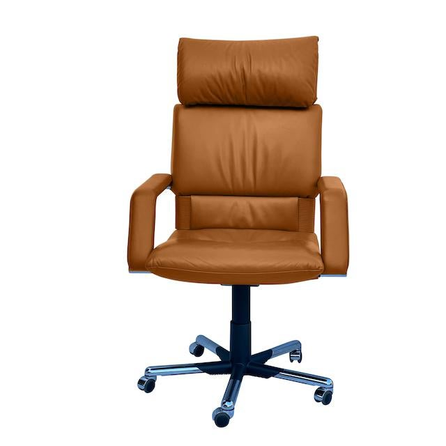 Mario Bellini Executive Swivel Chair in Leather For Sale - Image 13 of 13