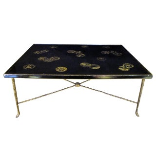 Rare French Cocktail Table with 18th Century Chinese Lacquered Top For Sale