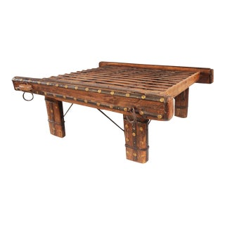 Square Ox Cart Coffee Table