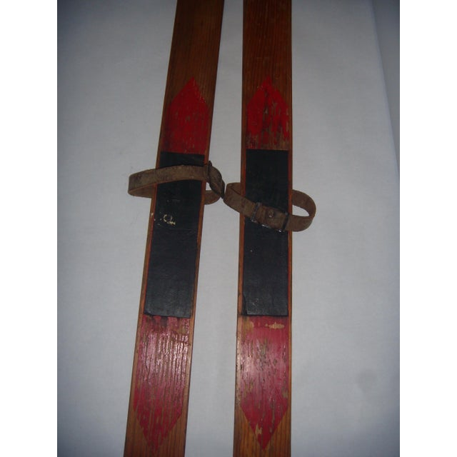 Vintage Wood Child's Skis - A Pair - Image 4 of 7