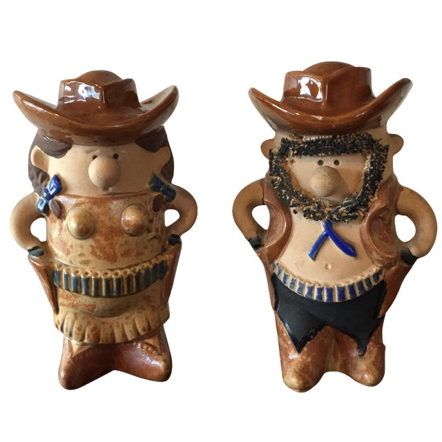 Cowboy & Cowgirl Salt and Pepper - A Pair - Image 1 of 8