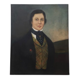 Early 19th Century American Oil Portrait of a Handsome Young Man For Sale