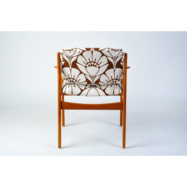 Mid-Century Modern Mid-Century Modern Teak Side Chair With Tipping Back For Sale - Image 3 of 5