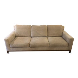 Marge Carson Gently Used Tan Sofa For Sale