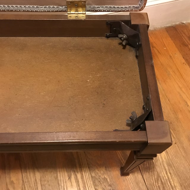 Mid-Century Piano Bench Storage Stool For Sale In Charlotte - Image 6 of 11