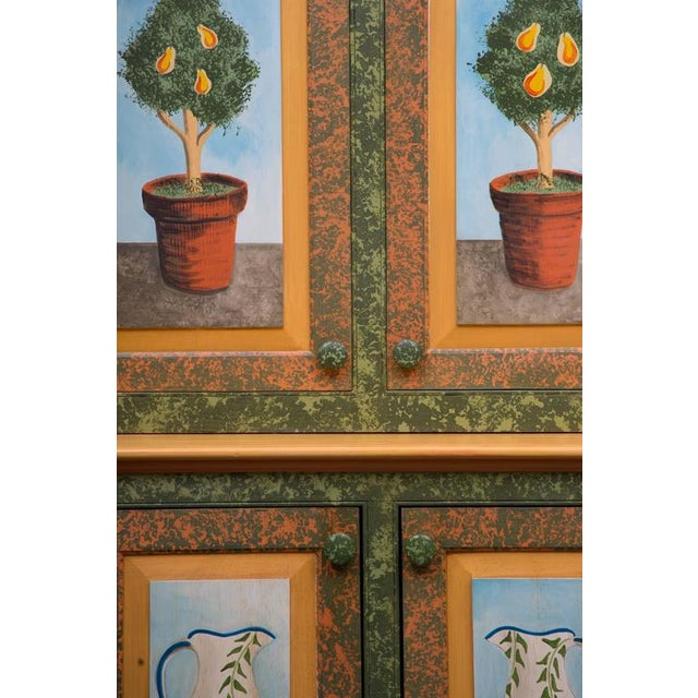 Whimsical Hand-Painted Solarium or Garden Room Cabinet - Image 6 of 10