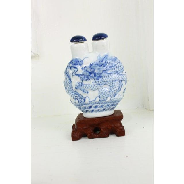 Asian Double Head Porcelain Bottle For Sale - Image 3 of 9