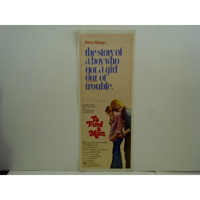 """This is a 1971 vintage movie poster of """"To Find A Man"""", starring Pamela Sue Martin and Darren O'Connor. 72/11. The poster..."""