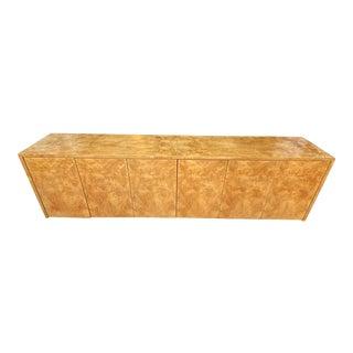 Vintage Organic Burl Wood Credenza Cabinet For Sale