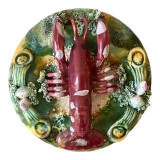 Majolica Decorative Lobster Platter For Sale