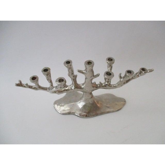 Silver Tree Menorah Candelabra - Image 10 of 10