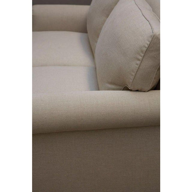 """Elton"" by Lee Stanton Upholstered Sofa in Belgium Linen or Custom Fabric For Sale In Los Angeles - Image 6 of 11"