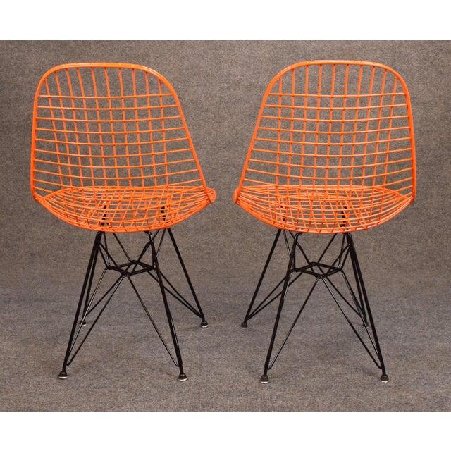 Vintage Herman Miller for Eamer Mid-Century Dkr Orange Chairs - Image 5 of 11