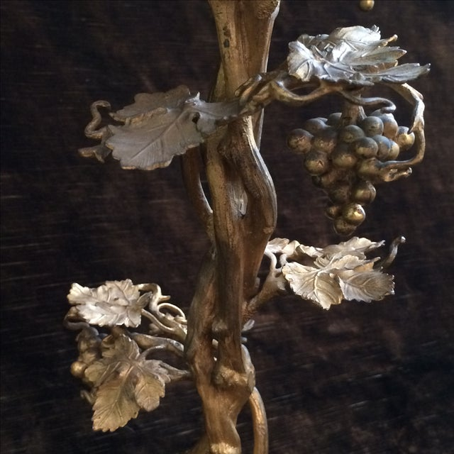 Fired Gilt Vineyard Candelabras - A Pair - Image 4 of 9