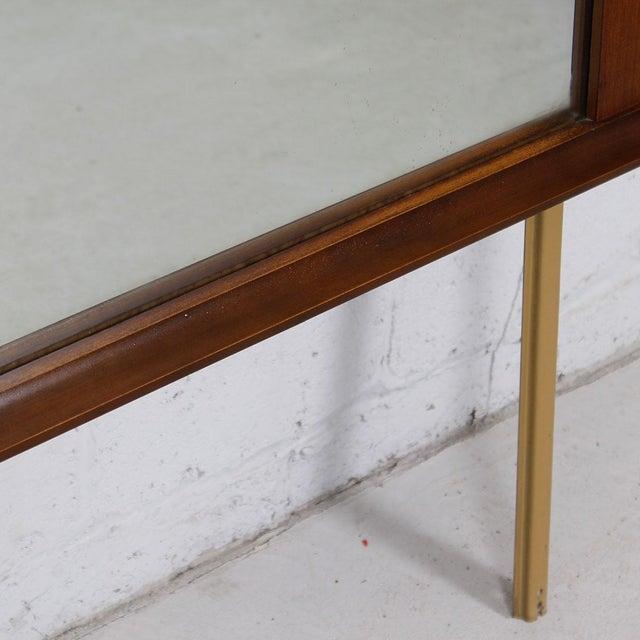 Stanley Mid-Century Modern Walnut Mirror For Sale - Image 4 of 4