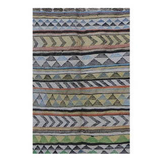 "Moroccan Kilim Boucherouite Rug- 5'5"" X 8'8"" For Sale"