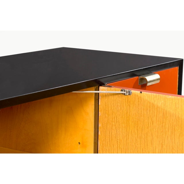 George Nelson Orange Credenza For Sale - Image 10 of 13