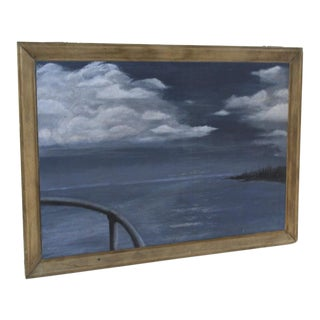 Vintage Painting of the View From a Ships Stern For Sale