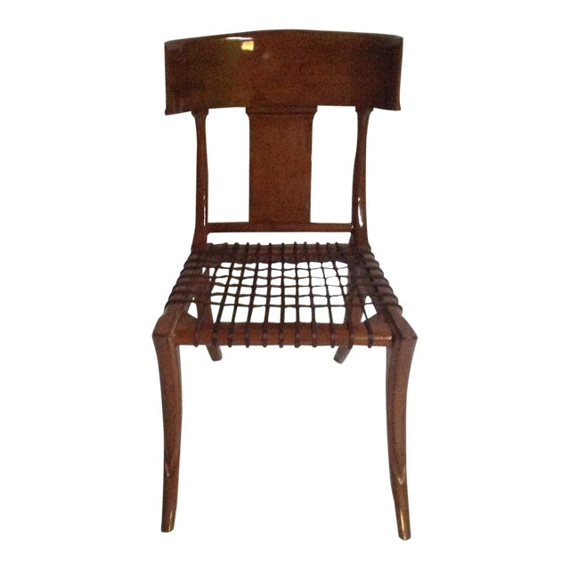Mid Century Modern Klismos Style Wooden Dining Chair