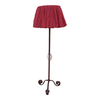 Early 20th Century Wrought-Iron Floor Lamp For Sale