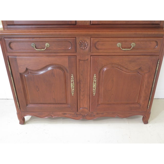 Stickley Country French Cherry China Cabinet | Chairish