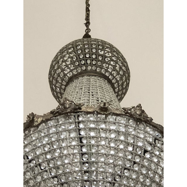 Oversized Cherub Acanthus Empire Chandelier For Sale - Image 10 of 11