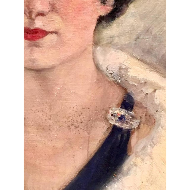 Early 20th Century Original Oil Painting Female Portrait -Framed & Signed By, H. Pink For Sale In West Palm - Image 6 of 10