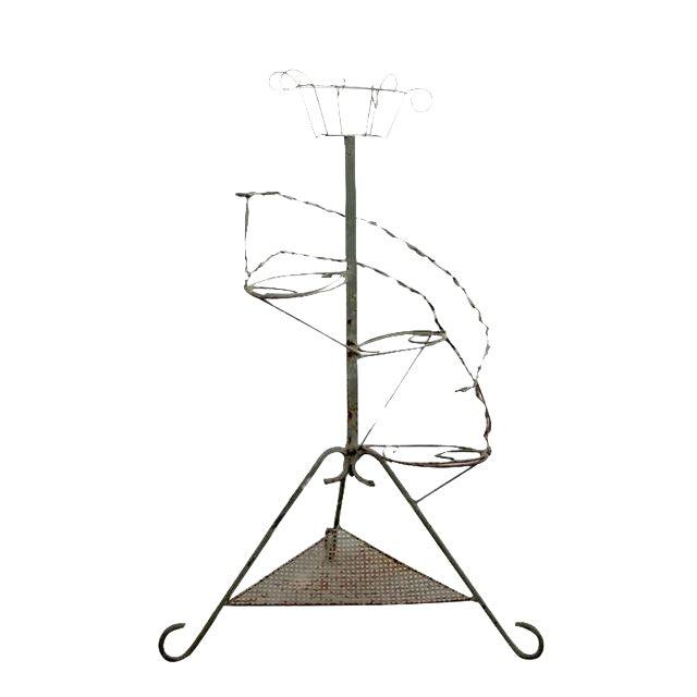 Vintage Metal Plant Stand Riser - Image 1 of 10