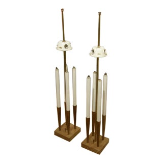 Stiffel Tall Candelabra Table Lamps - a Pair