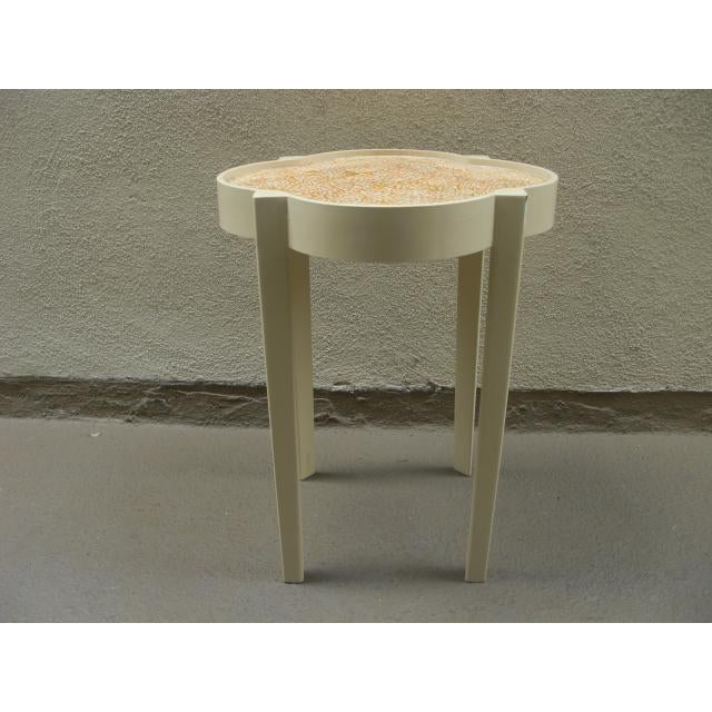 Moroccan Silhouette Painted Mosaic Top Side Table For Sale - Image 4 of 7