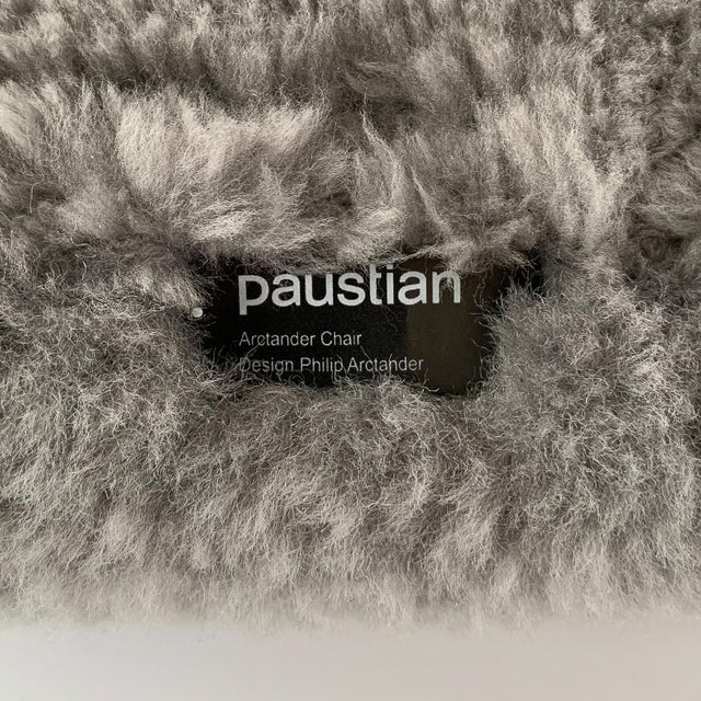 Philip Arctander for Paustian Gray Sheepskin Upholstered Lounge Chairs - a Pair For Sale - Image 12 of 13