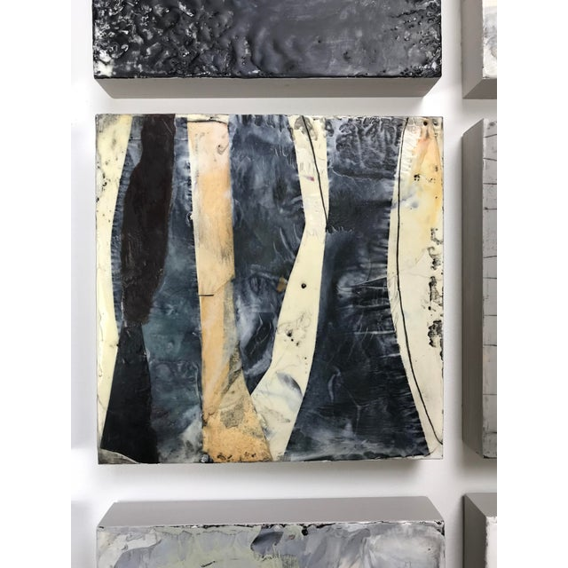 """Encaustic Original 16 Piece Installation by Gina Cochran """"Every Other Tuesday"""" For Sale - Image 7 of 13"""
