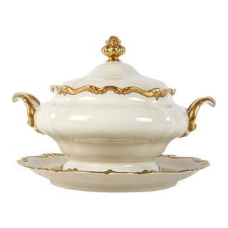 Antique European Porcelain Covered Tureen For Sale