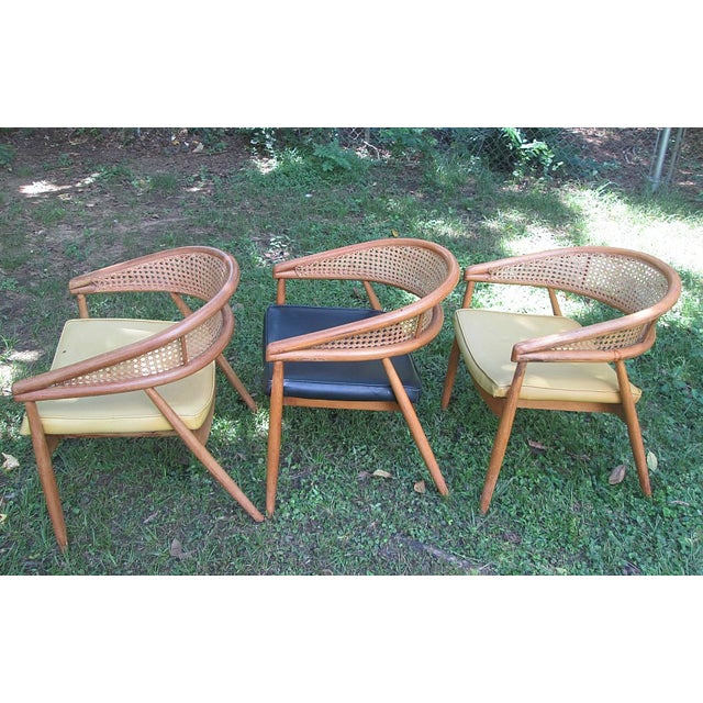 1960s James Mont Cane Back Chairs - Set of 4 - Image 2 of 10