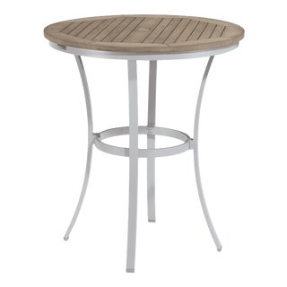 "36"" Round Café Outdoor Bar Table, Vintage For Sale"
