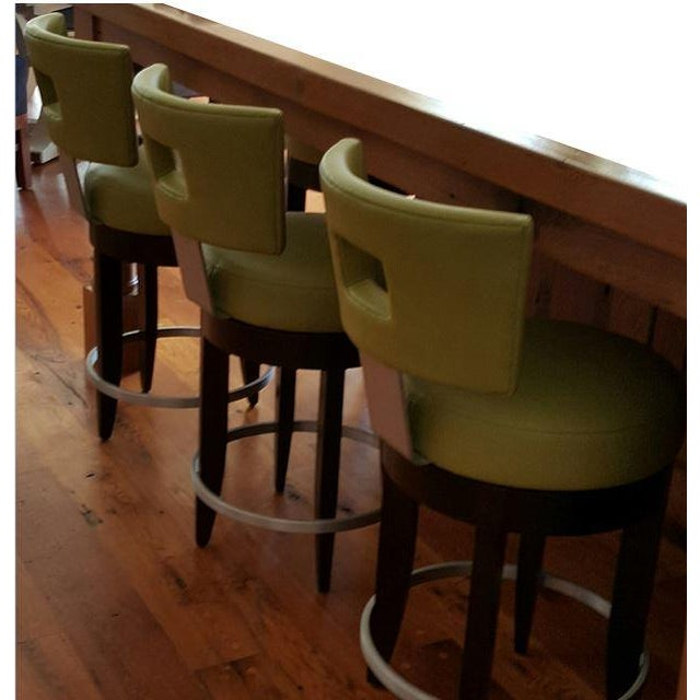David Edward Barstools With Faux Leather Seats - 4 - Image 3 of 8
