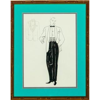 """Dapper Gent in White Dinner Jacket"" For Sale"