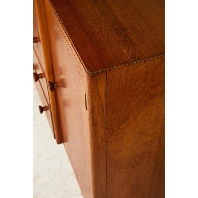 Midcentury English Oak Sideboard For Sale - Image 9 of 13