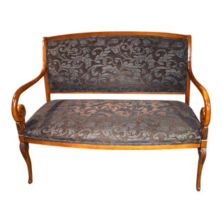 1980s Vintage Italian Provincial Style Settee For Sale